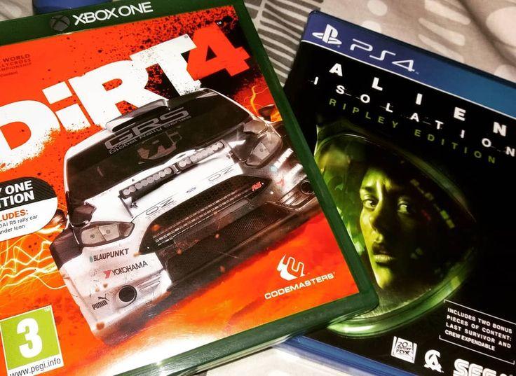 Dirt 4 arrived and felt like buying Alien on PS4 for a playthrough  _____________________________  Second IG: @kashryder  #xboxone #xbox #xbox360 #ps4 #playstation #playstation4  #gaming #gamer #instagamer #gta #callofduty #cod #gta5 #skyrim #uncharted #assassinscreed #xboxlive #psn #gamers #dirt #dirt4 #fordfocus #alienisolation #ripley #amandaripley