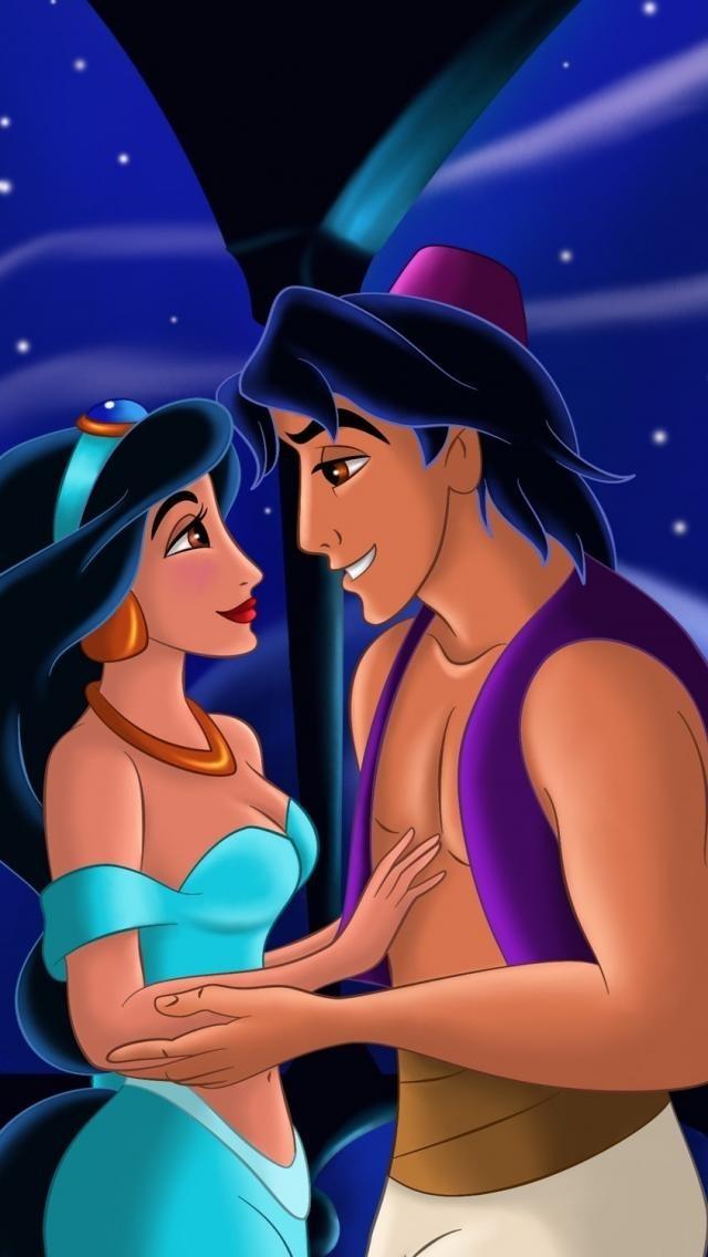 "Princess Jasmine and Aladdin. They're my favorite Disney couple from the ""Disney Renaissance Era"" <3"