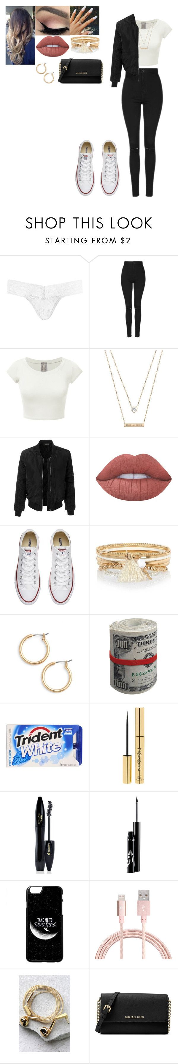 """Going out for pizza"" by love-5secondsofsummer ❤ liked on Polyvore featuring Hanky Panky, Topshop, Michael Kors, LE3NO, Lime Crime, Converse, River Island, Nordstrom, Yves Saint Laurent and Lancôme"