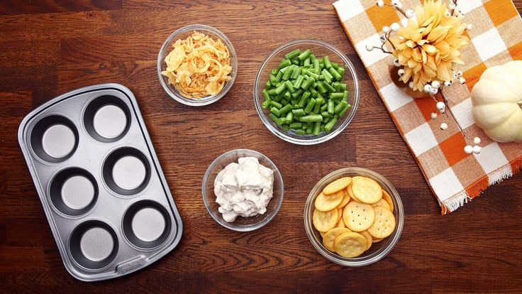 Tasty with Nabisco Cookies Green Bean Casserole Cups