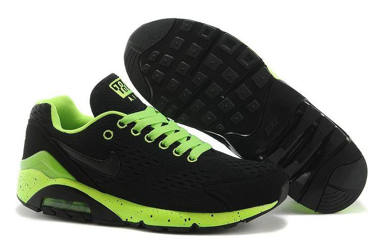 Air Max 180 EN Goedkoper Outlet Verkoop Nike Heren Sneakers Schoenen Zwart/Fluorescerend Groen
