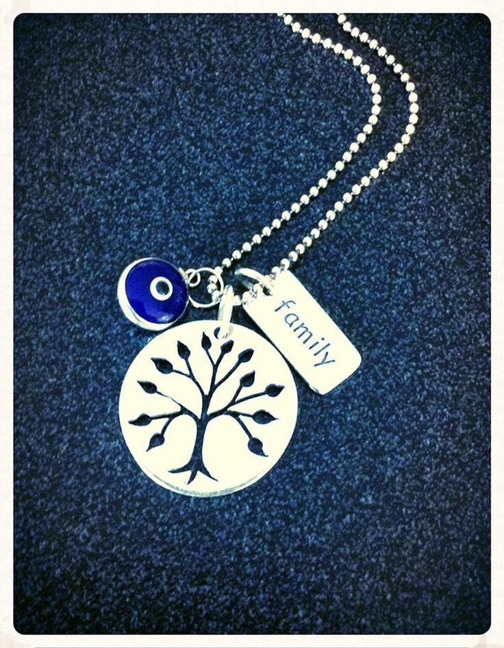 Sterling Silver Charm necklace Tree of life  Protection Charm Family  see www.rtmhandmadejewellerydesign.com