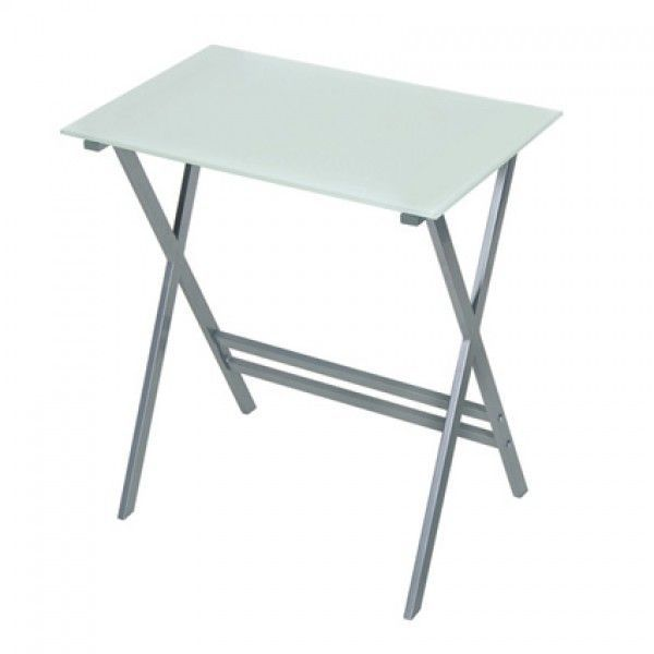 Graphite U0026 Clear Glass Home Office Desk   700mm Wide. Excl. Vat: £