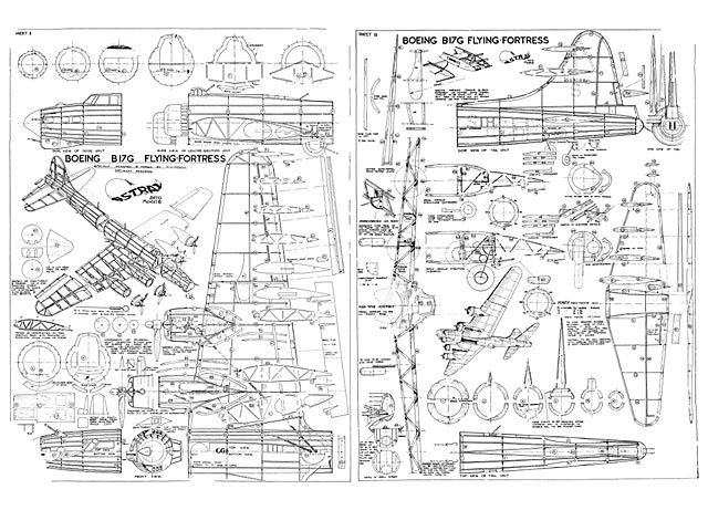 Boeing B-17G Flying Fortress - plan thumbnail