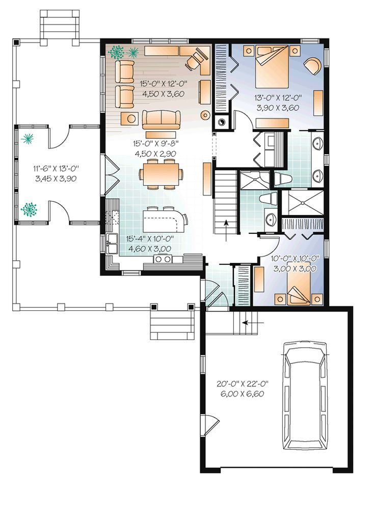 402 best House Plans images on Pinterest Small house plans