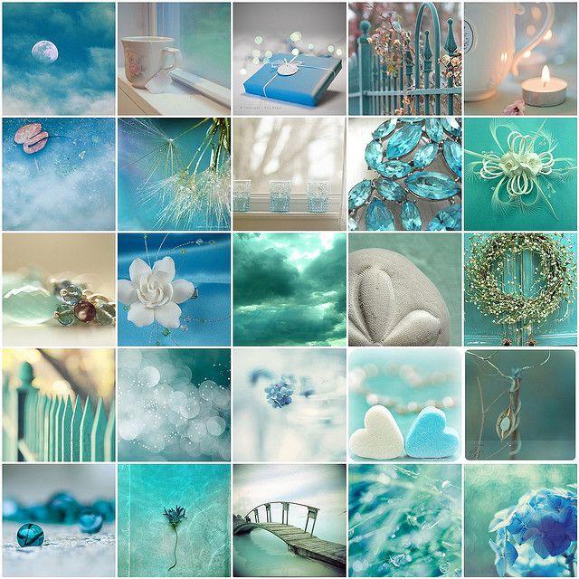 Turquoise / Aqua color board .... color inspiration