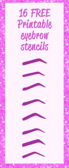eyebrow printable stencils to use Free Printable Eyebrow Stencils