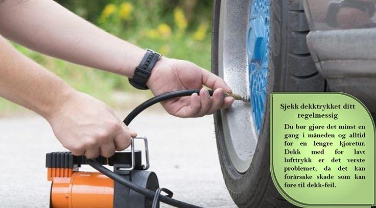 Inspiser dekkene dine  Av tilsvarende viktighet som for bremsene, er det viktig å holde øye med dekkene dine. Sjekk etter buling, sprukket eller dårlig gummi. Friske dekk er nødvendig for all kjøring, uansett avstand. #dekkene