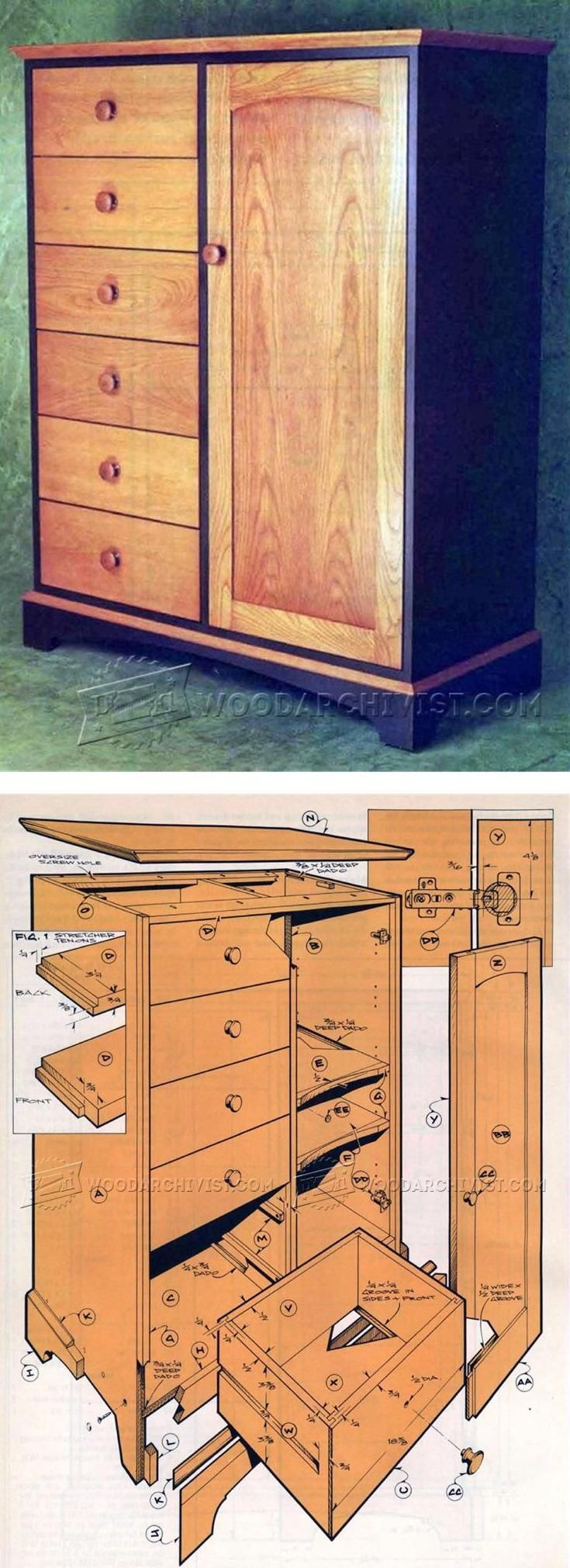 Cupboard Plans - Furniture Plans and Projects | WoodArchivist.com
