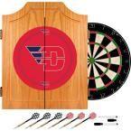 University of Dayton Wood Finish Dart Cabinet Set