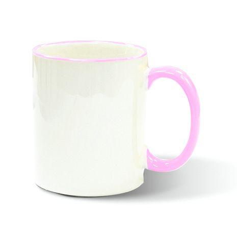 11oz Rim Handle Mug-Pink