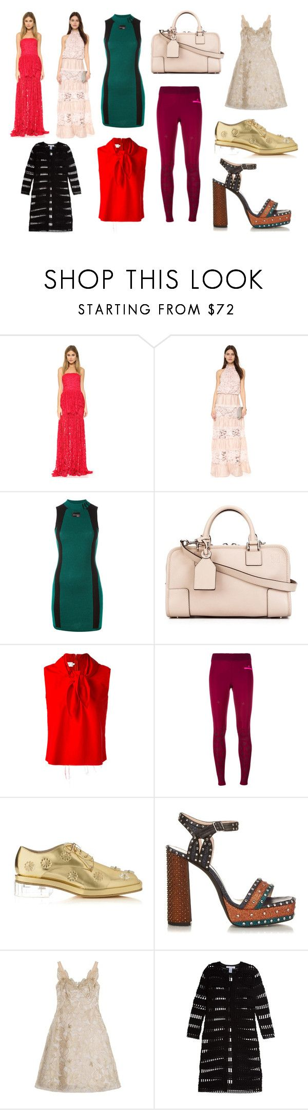 """Please Follow me"" by donna-wang1 ❤ liked on Polyvore featuring Alexis, adidas Originals, Loewe, Marques'Almeida, adidas, Simone Rocha, Lanvin, Notte by Marchesa, Oscar de la Renta and vintage"