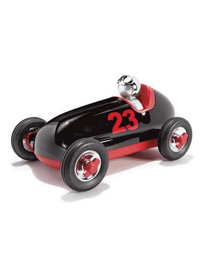 Playforever+Toys+Bruno+Push+Car+Black+Red
