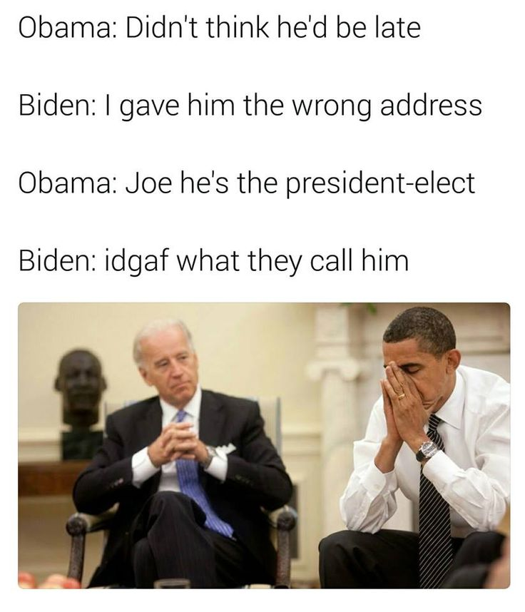 Lovin' these Obama and Biden memes. :D