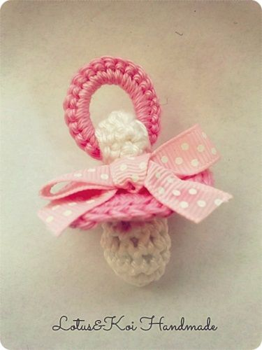 Crochet Pacifier Ciuccetto all'uncinetto