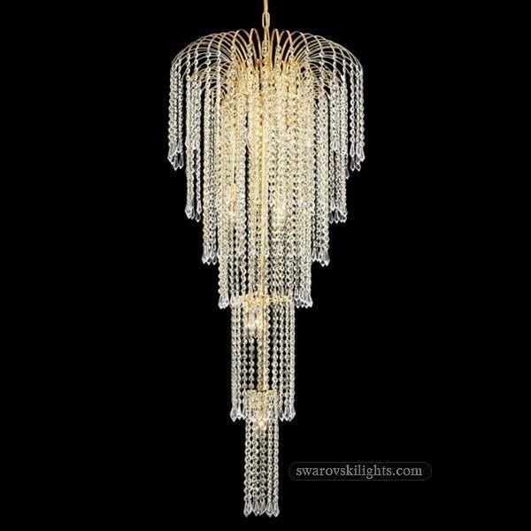 387019_Staircase Crystal Chandeliers_Zhongshan Sunwe Lighting Co.,Ltd. We  Specialize In Making Swarovski Crystal
