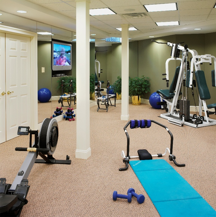 Basement l Awesome home gym fitness