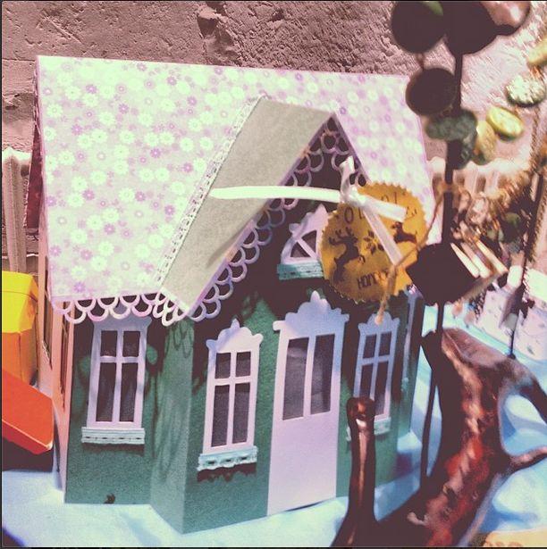 "Oolamp ""Дом в котором..."" бумагопластика, скрапбукинг  #paper #lantern #handcraft #handmade #gift #house #paperHouse"
