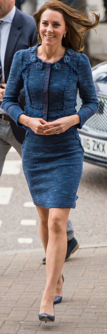 Catherine, Duchess of Cambridge during a visit to Kings College Hospital in south London where she met staff and patients who were affected by the terrorist attacks in London Bridge and Borough Market, on June 12, 2017 in London.