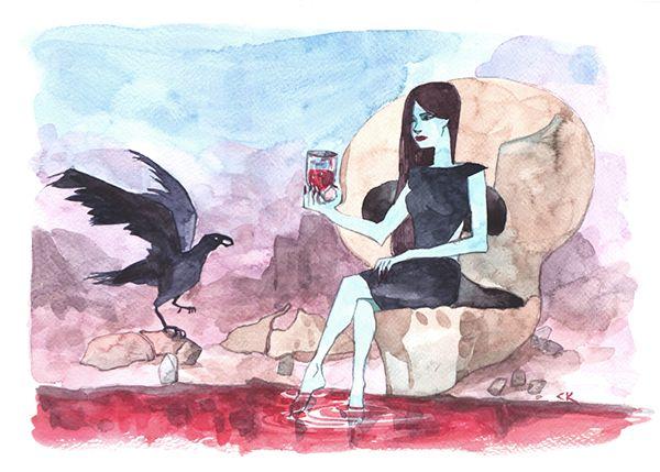 Vamp, Crow, Blood on Behance