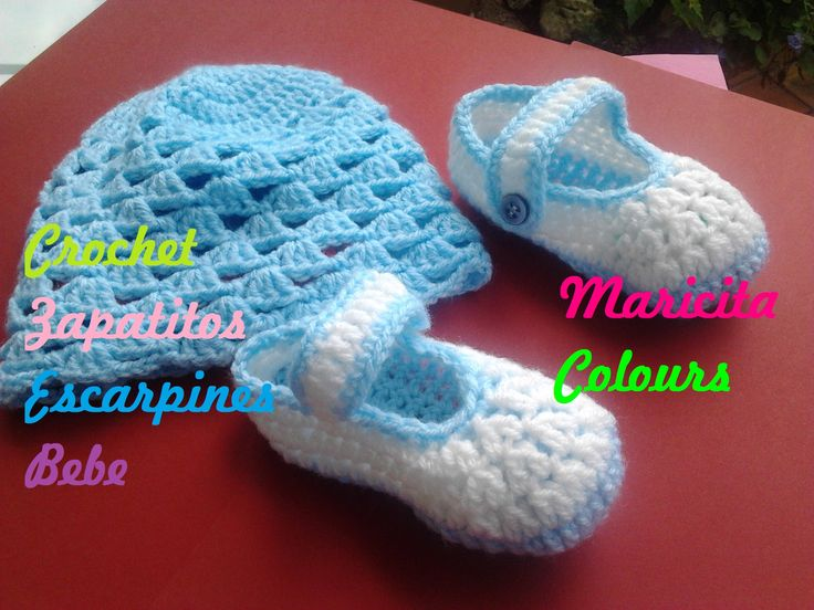 Crochet Tutorial Zapatitos : Crochet Zapatitos Escarpines Shoe / schue Bebe por Maricita Colours ...