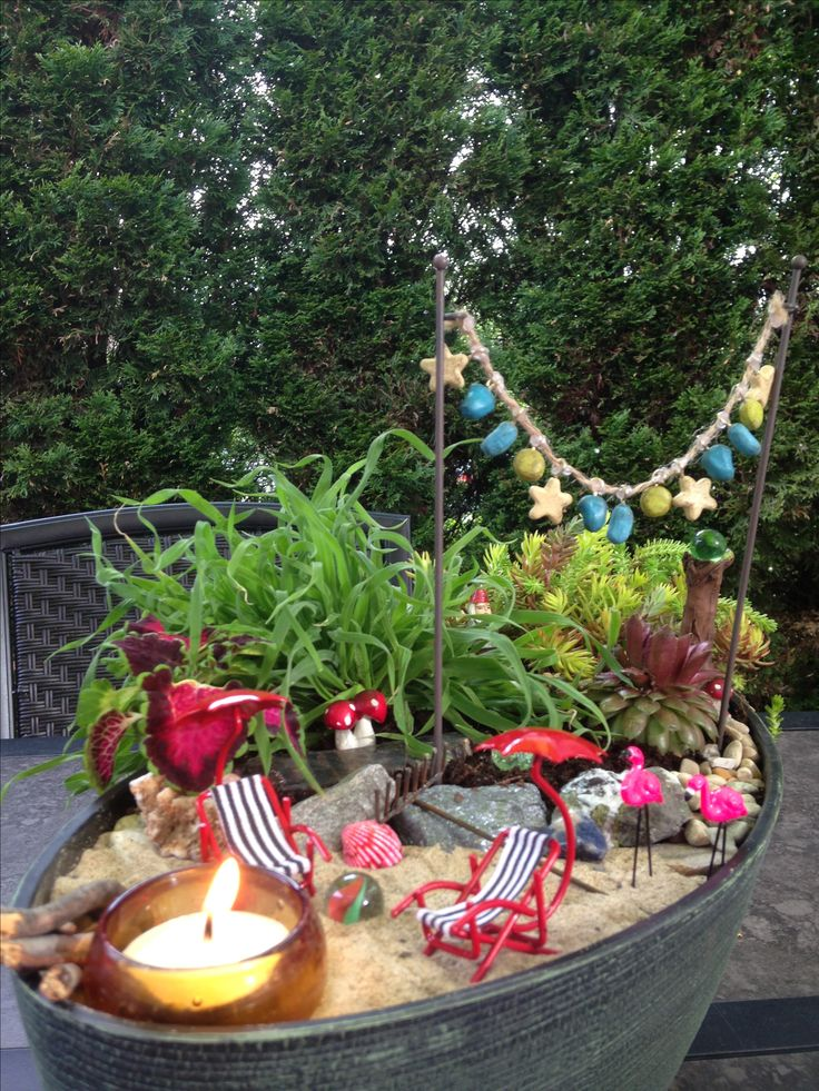 Beach fairy garden love deko pinterest feengarten for Garden deko