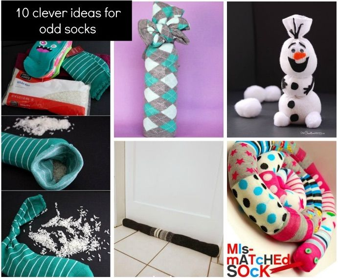 Do you have a growing pile of odd socks? Don't get frustrated, we've found 10 clever craft ideas you can do with those odd socks.