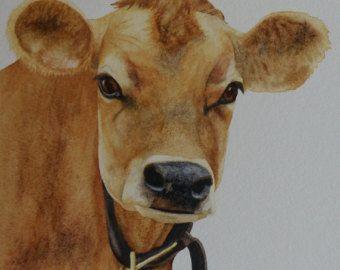 Cute Cow and dandelions kids & baby or grownups by LauraSueArt