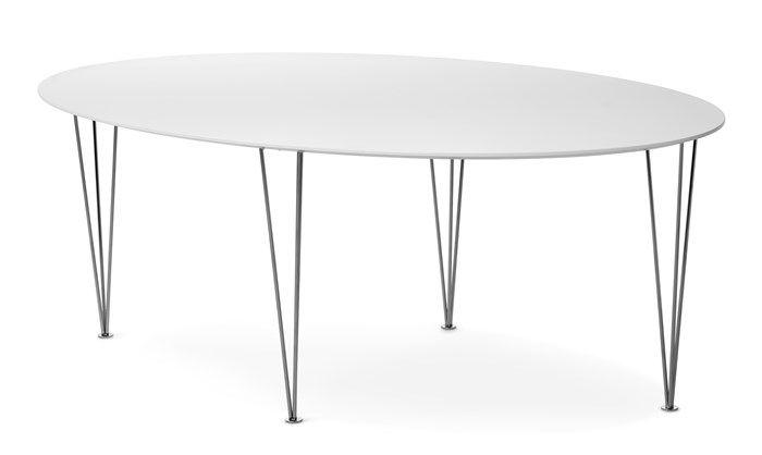 Produktbild - Plaine, Soffbord, elliptisk med spännben, L 130 cm