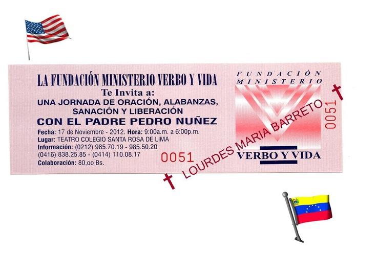 †EWTN PADRE PEDRO NUÑEZ EVENTO MAJESTUOSO EN QUE ASISTI 17 Y 18 DE NOVIEMBRE DEL 2012 TICKETS Y ENTRADA†. †♠LOURDES MARIA†♠