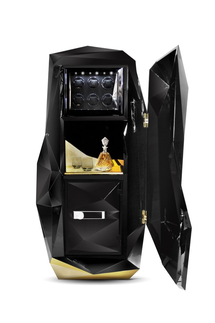 DIAMOND SAFE BOX By Boca do Lobo| www.bocadolobo.com #luxuryfurniture #interiordesign #inspirations #homedecorideas #exclusivedesign #safebox #diamond #officedecor #officeideas