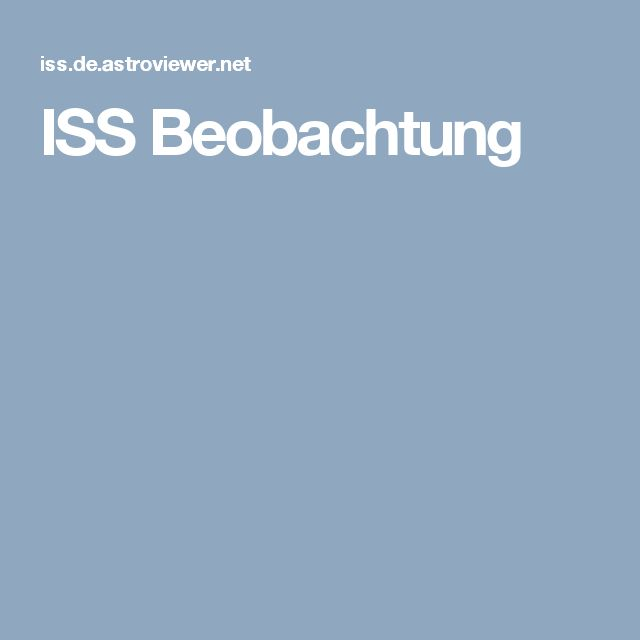 ISS Beobachtung