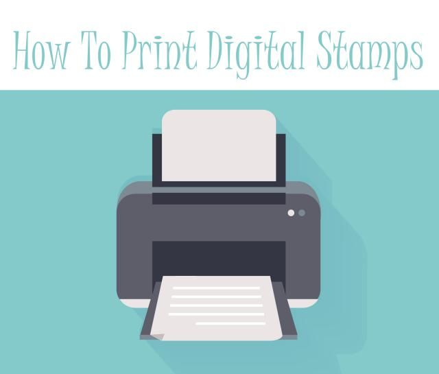 Learn how to print your digital stamps using Microsoft Office software. This is a straight forward way to print your digital stamps ready for crafting.