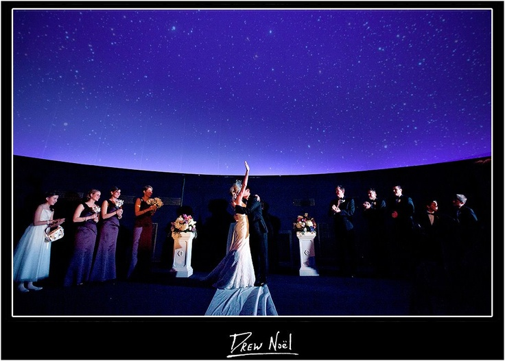 get married under the stars planetarium wedding the