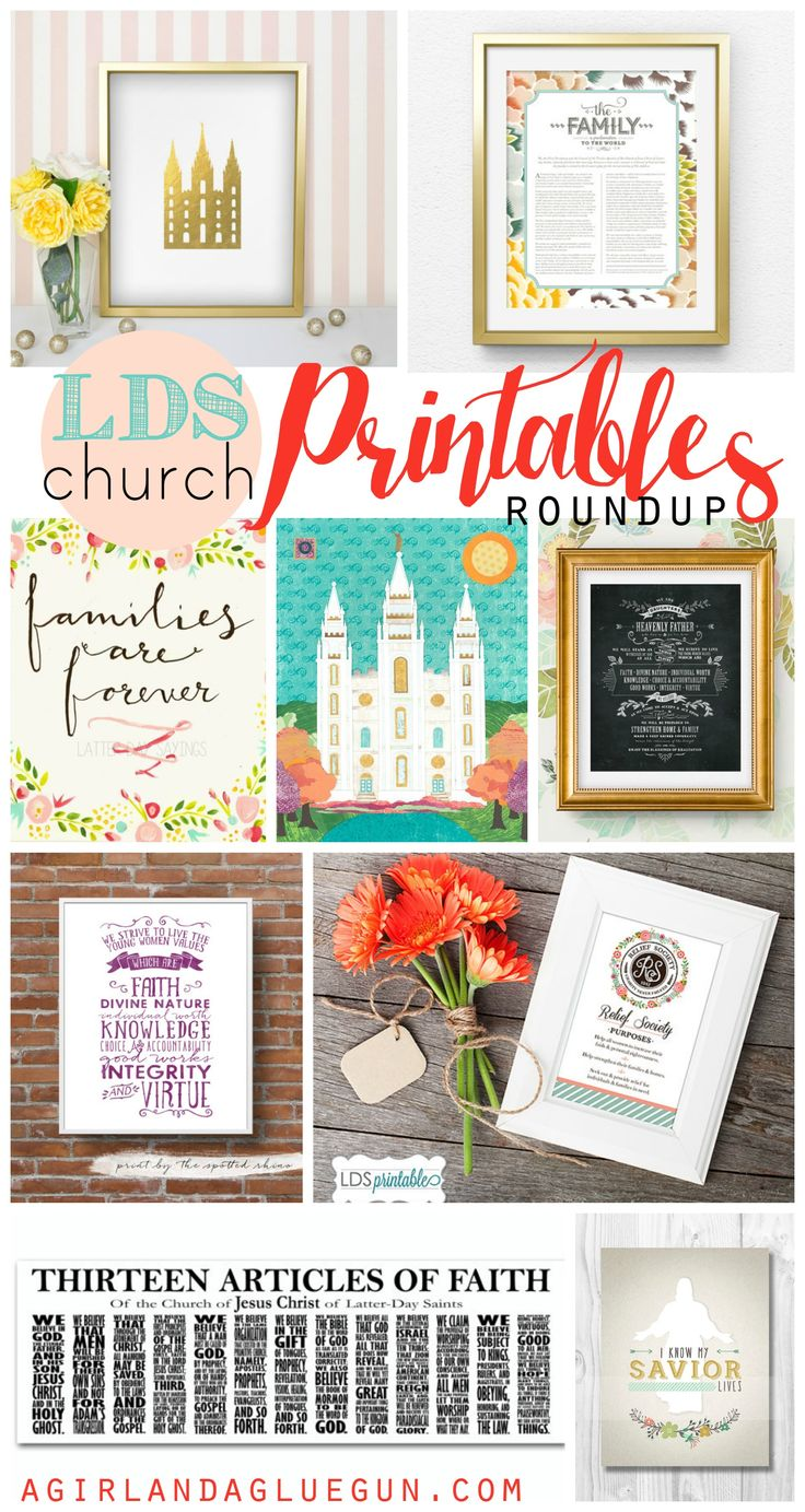 lds church printable roundup! - A girl and a glue gun