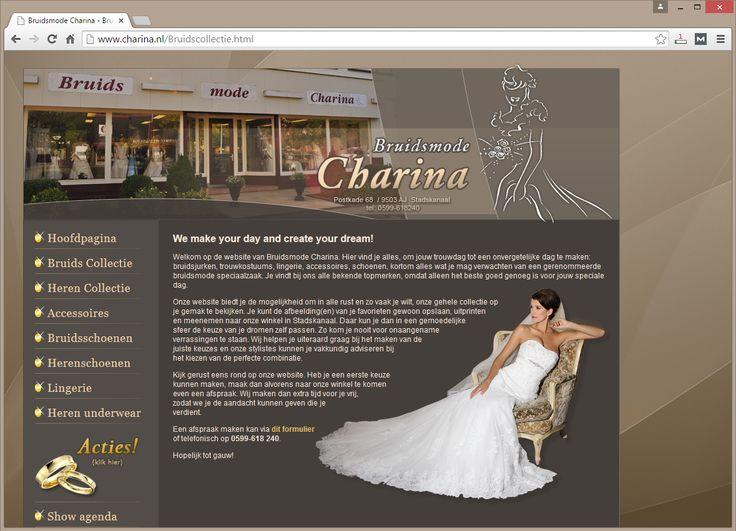 JM Websites | Bruidsmode website, oude referentie van 2009 - JM Websites
