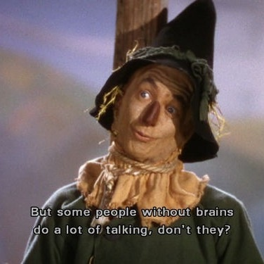 """""""Some people without brains do a lot of talking, don't they?"""""""