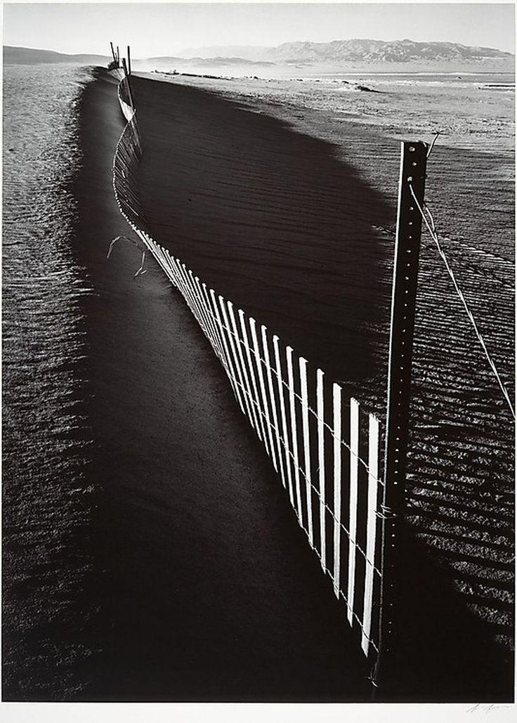 Ansel Easton Adams, Sand Fence, Keeler, California. ca. 1948, printed 1974. Gelatin silver print.