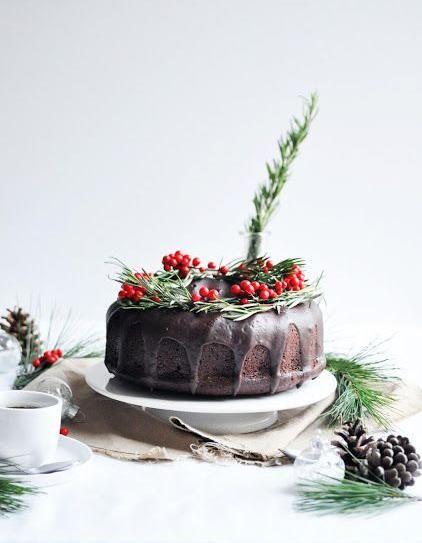 Christmas cakes : pour changer de la bûche, on craque sur le christmas cake  - Elle