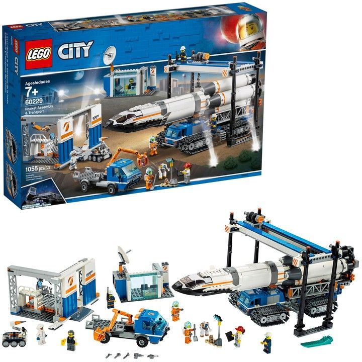 Lego City Space Port Rocket Assembly Transport Set 60229 Sponsored Affiliate Space Port Lego Nel 2020 Credenzas