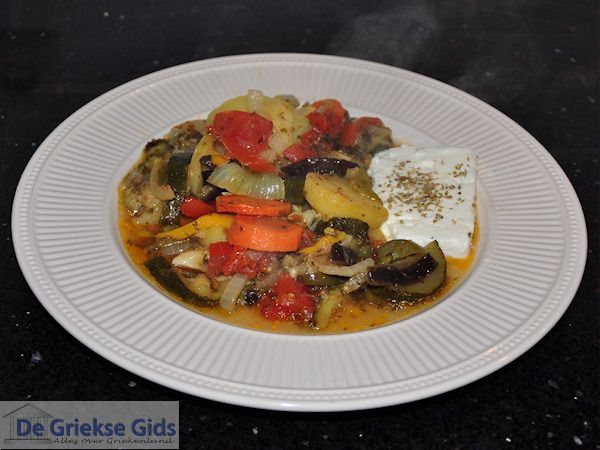 Briam - Griekse groente schotel
