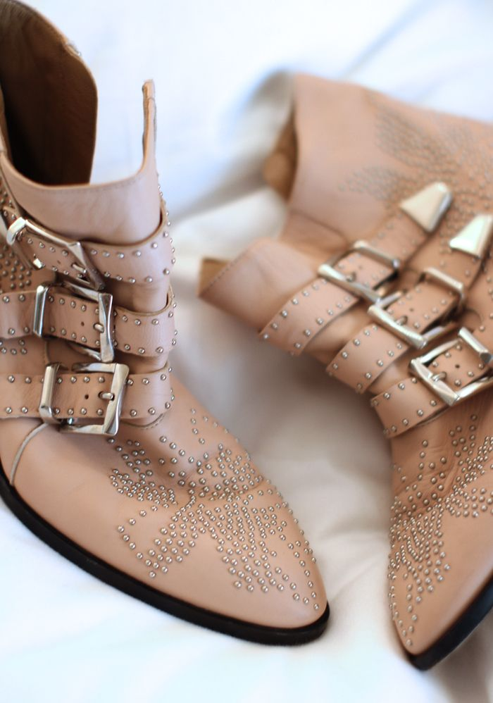 Can't go wrong with Chloe and studs! http://rstyle.me/n/rqdj59sx6