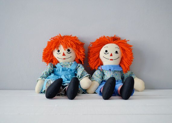 Vintage Raggedy Ann Doll  Raggedy Ann and Andy by TimberAndTwine, $52.00