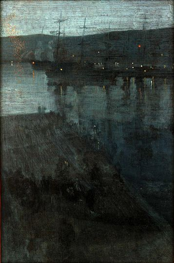 James McNeill Whistler / Nocturne in Blue and Gold: Valparaiso. Are you looking for inspiration for our Green open art exhibition, autumn 2015? See http://www.harbourhouse.org.uk for full details of entry.