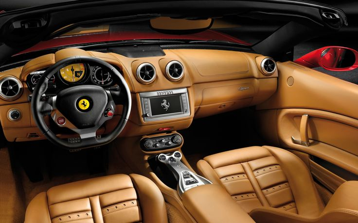 Ferrari California cockpit  Whoa!