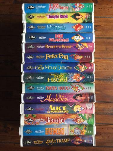 Disney-VHS-Black-Diamond-Classics-Lot-Of-14-Rare-Movies