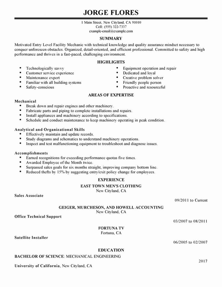 Entry Level Resume Template Unique Best Entry Level