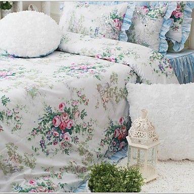 fadfay+@+vintage+floral+Bettwäschesatz+romantischen+Rosendruck+Bettwäsche+Fee+Mädchen+Bettwäschesatz+Königin+–+EUR+€+177.37