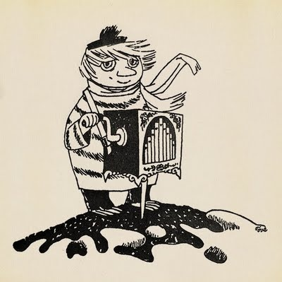 Tove Jansson illustration of Too-Ticky character  (Moominland Midwinter - book published 1957).