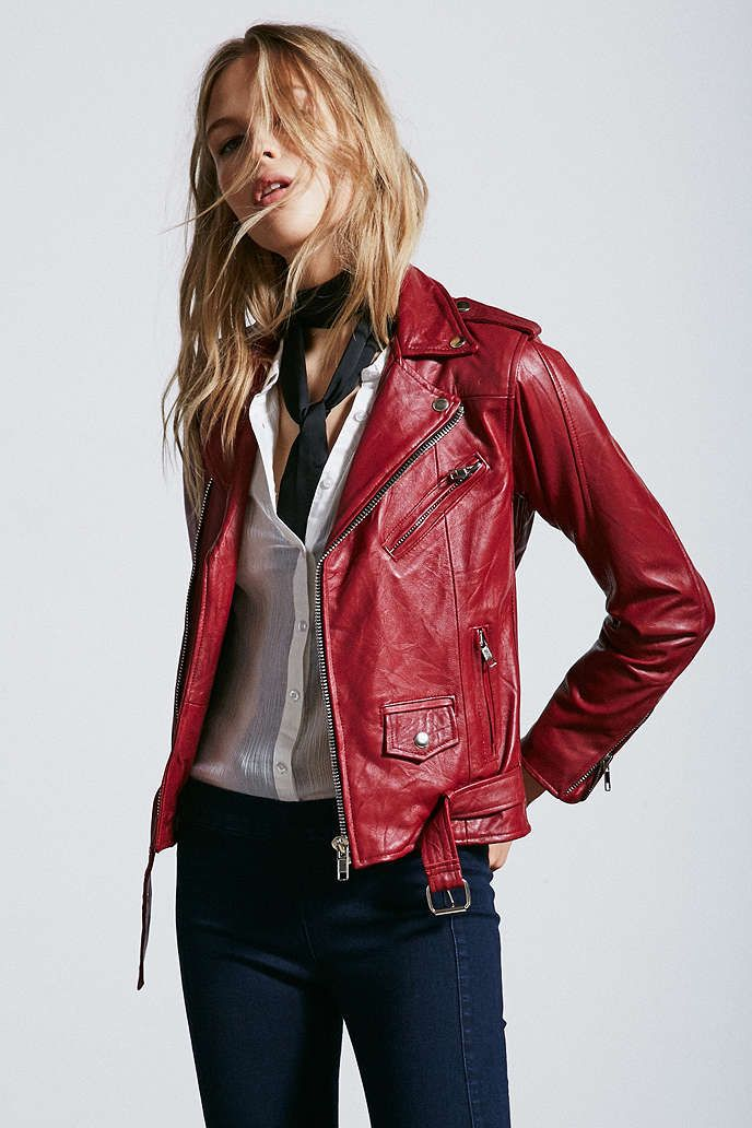 womens leather biker jacket urban outfitters